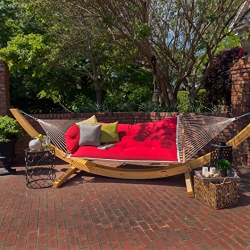 Hatteras Hammocks Tufted Hammock - Canvas Jockey Red