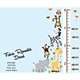 Safari Pride Jungle Growth Chart Wall Decals, Jungle Stickers, Height Chart (Color: Safari Pride, Tamaño: Growth Chart)