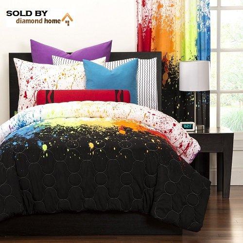Black Paint Splatter Bedding