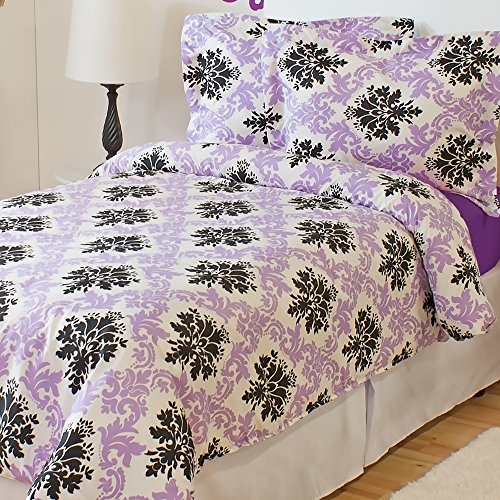 Damask Print Bedding 9120 back