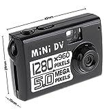 Mini Dv 5MP la más pequeña del mundo  cámara HD de vídeo digital, cámara espía, grabadora de vídeo,  cámara escondida DV DVR con 1280 x 960 de resolución.