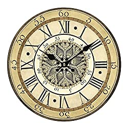Accmart Retro Vintage Wall Clock Hanging Clock for Home Hotel Decorative(Large:13.4inch)