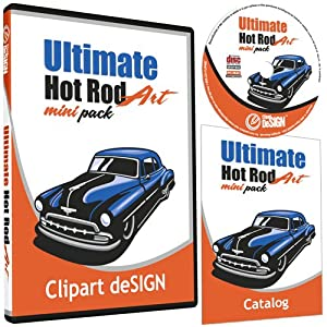 Hot Rod Cars Clipart-Vinyl Cutter Plotter Images-Vector Clip Art Graphics CD-ROM by Clipart deSIGN USA