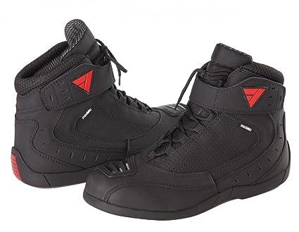 Modeka cITY rIDER bottes de moto en cuir et textile-noir