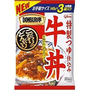 グリコ DONBURI亭 牛丼 3食P