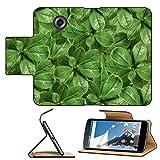 Luxlady Premium Motorola Google Nexus 6 Flip Pu Leather Wallet Case IMAGE ID: 34457003 Manipulated photo plants texture pattern closeup detail in vivid green tones