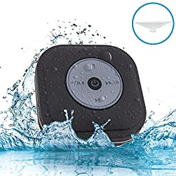 Waterproof Shower Speaker, NUTK Wireless Bluetooth Stereo Player Loud Handsfree Portable Speakerphone with Built-in Mic,FM and Dedicated Suction Cup