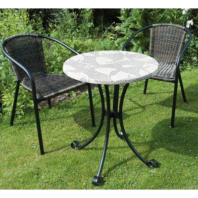 Romano - Garden Bistro Set - Werzalite Table Top, 2 Remo Stacking Chairs