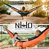 HangTight Hammock Straps By Natures Hangout - 10 Ft Long, 16 Adjustable Loops, Extra Strong & Lightweight. No Stretch Polyester & Tree Friendly
