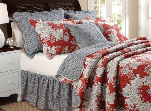 Greenland Home Lorraine Quilt Set, Full/Queen