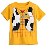 Disney Woody Costume Tee for Boys - Toy Story Size S (5/6) Yellow (Color: Yellow, Tamaño: Small / 5/6)