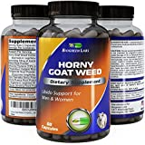 MOST ADVANCED NATURAL HORNY GOAT WEED SUPPLEMENT - Potent Maca Root powder - Pure - Natural fast acting Enhancement extract for male & female + Tongkat Ali + Panax Ginseng - Biogreen Labs 60 Capsules