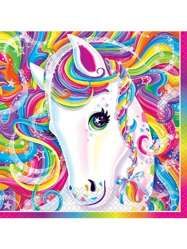 Lisa Frank Rainbow Majesty Unicorn Luncheon Napkins (16 Count)