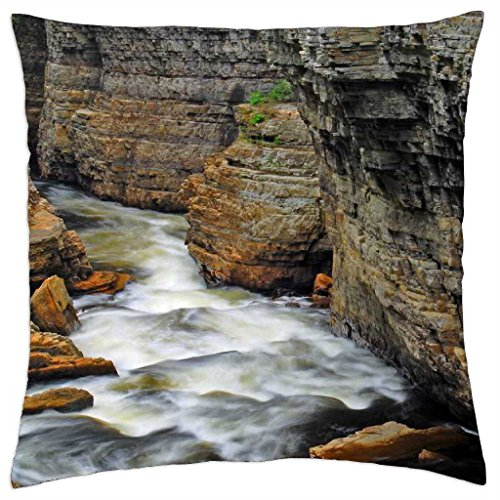 """Ausable Chasm - Throw Pillow Cover Case (18"""" x 18"""")"""