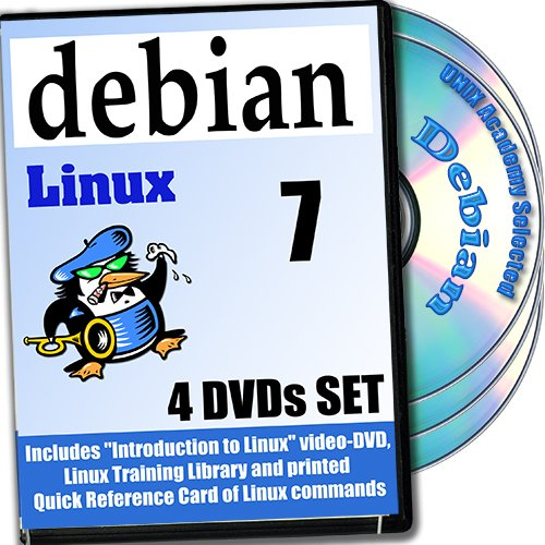 Debian 7 Linux, 4-Disks DVD Installation And Reference Set, Ed. 2013