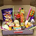 The Must Have Retro Old School Sweet Box - Fizzers, Parma Violets, Drumstick, Rainbox Dust Straws, Drops, Flying Saucers, Love Hearts and Many More Favourites - Letter Box Size- By Moreton Gifts