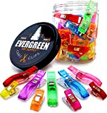 WONDER CLIPS - Super 100-PACK! - 75+25 Bonus JUMBO Clips! - Vibrant Colors! All Purpose Craft Clips - Perfect as Sewing Clips, Quilting Clips & More! by Evergreen Art Supply -100% Moneyback Guarantee