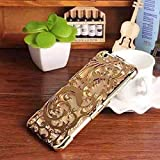 O4U Fashion Case Golden Net Back Cover For Apple IPhone 5/5S/5G