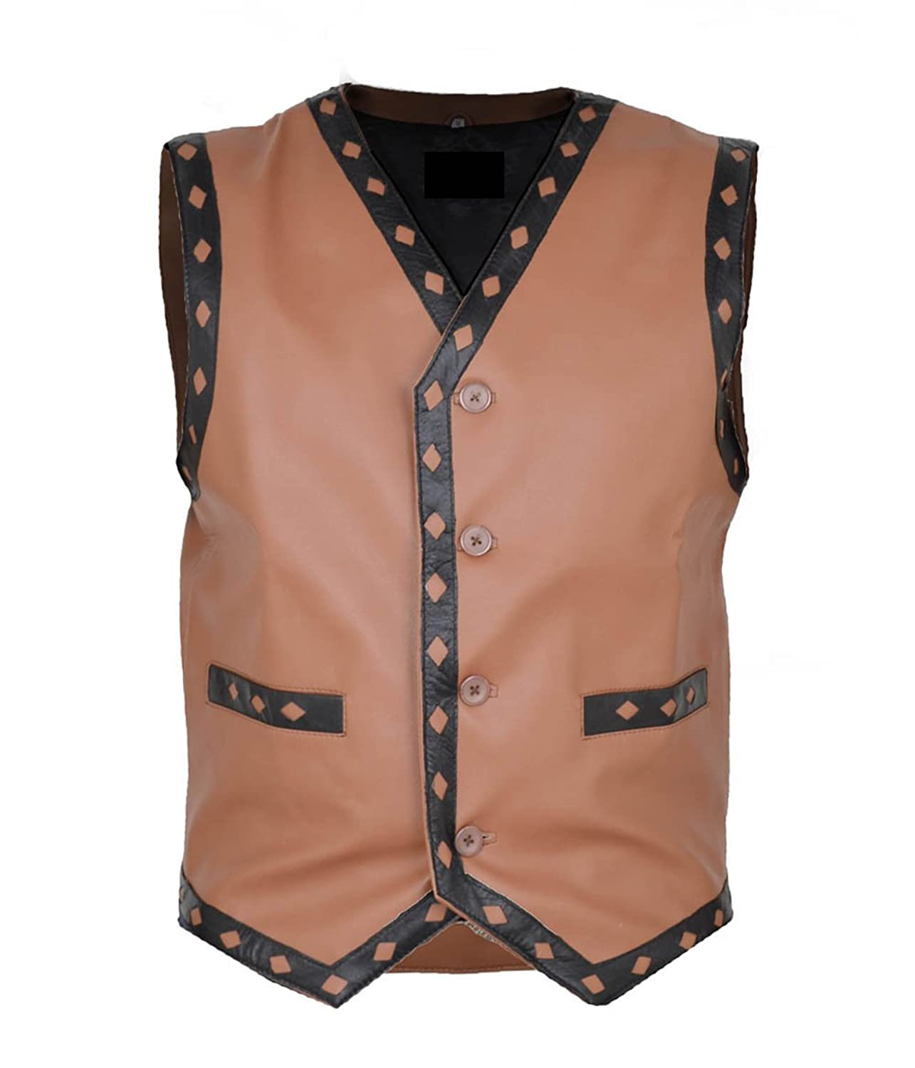 The Warriors Swan Ajax NY gangstar Brown Real Sheep Leather Vest kaufen