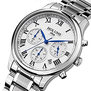 Amazon.com: LNTGO Holuns Relogio Masculino Men'S Quartz Watch
