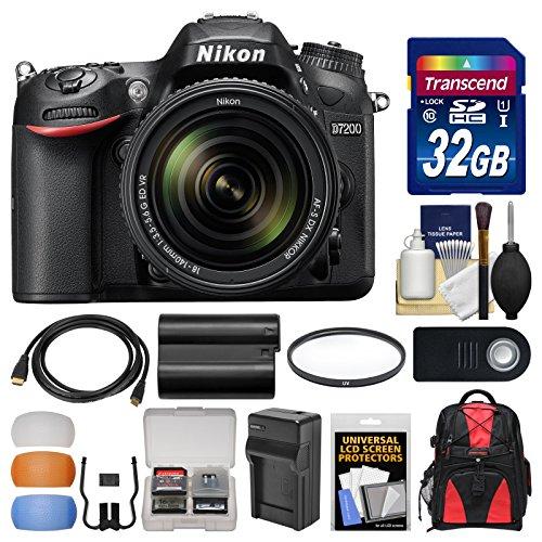 Nikon-D7200-Wi-Fi-Digital-SLR-Camera-18-140mm-VR-DX-Lens-with-32GB-Card-Backpack-BatteryCharger-Filter-Remote-Kit
