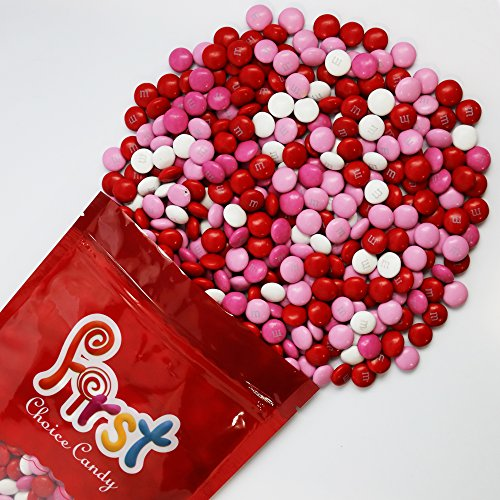 m&m Valentine Mix Milk Chocolate Candy 2 Pound Resealable Pouch Bag (Red Milk Chocolate Gems compare prices)