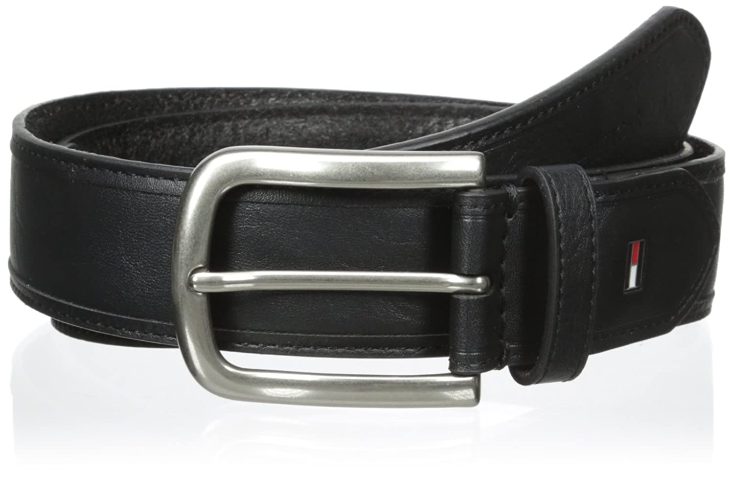 Tommy Hilfiger Men's 35mm Vegetable Round Edge Belt