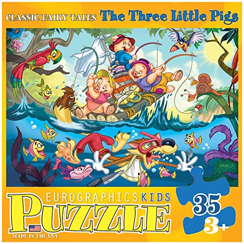 EuroGraphics 35-Piece Classicic Fairy Tales The Three Little Pigs Puzzle
