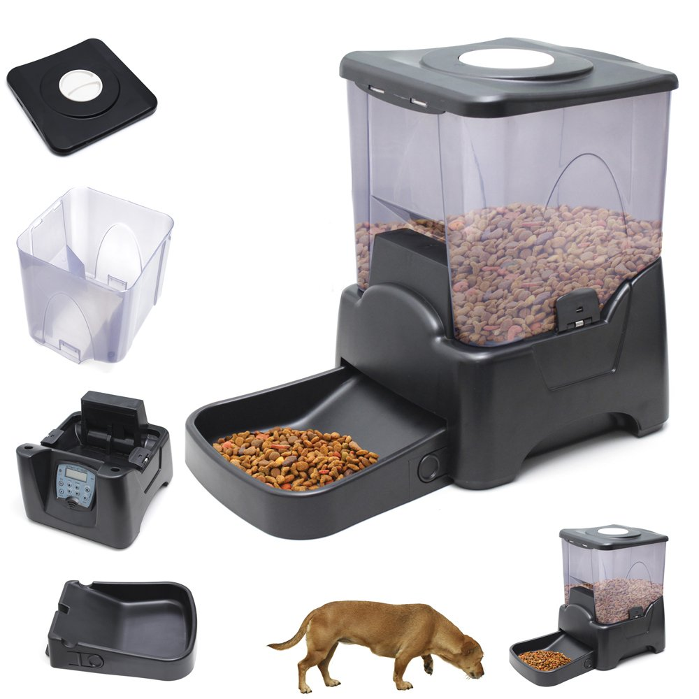 dog feeders pet remote automatic digital feeder landing controlled