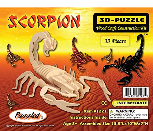 Puzzled Scorpion 3D Woodcraft Construction Kit - 1