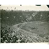 Vintage Photo- Early football game in stadium