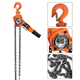 Lever Hoist Chain Block Hoist Ratchet Manual Lever Chain Come Along Chain Puller 10FT Lifting Equipment - Orange (3T / 6613.9Lbs) (Tamaño: 3T / 6613.9Lbs)