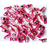 CADY Wonder Clips, Paper Clips, Blinder Clips, 100pcs, mei red (Color: mei red, Tamaño: 100pcs)
