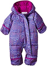 Columbia Snuggly Bunny Bunting Combinaison Enfant Blue Macaw Print/Bright Plum FR : 18 mois (Taille Fabricant : 18/24)