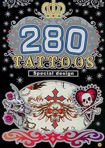 280 Temporary Tattoos - Skulls Assorted - Style 16 - 1