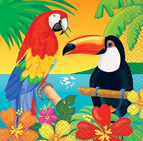 Tropical Island Luau Beverage Napkins, 16ct (Margarita Party Napkins compare prices)