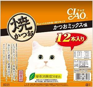チャオ (CIAO) 焼かつお かつおミックス味 12本入り