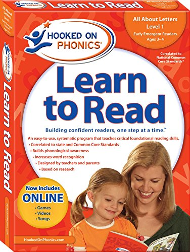 Learn to Read, Pre-K Level 1, Ages 3-4 (Hooked on Phonics: Level 1)