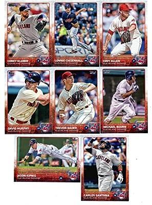 2015 Topps Baseball Cards Cleveland Indians Team Set (Series 1- 8 Cards) Including Cody Allen, Michael Bourn, Lonnie Chisenhall, Trevor Bauer, Corey Kluber, David Murphy, Jason Kipnis, Carlos Santana