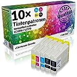 N.T.T.® 10 Stück XL Druckerpatronen-4x schwarz & je 2x cyan magenta yellow