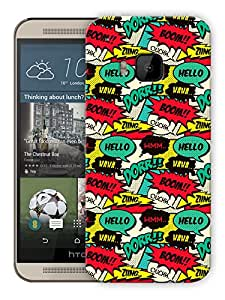 "Humor Gang Comic Cartoon Life Printed Designer Mobile Back Cover For ""HTC ONE M9"" (3D, Matte, Premium Quality Snap On Case)"