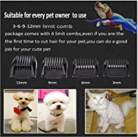 Balakie Pet Clipper, Low Noise Rechargeable Pet Grooming Trimming Kit Set - Large, Medium, Small Dogs and Cat, Cordless Electric Hair Trimmer for Quick Safe Cutting