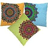MySocialTab - Diwali Gift Set Of 3 Printed Cushion,DIWALIGIFTS804MST - Diwali Gifts Items, Gifts Box For Diwali...