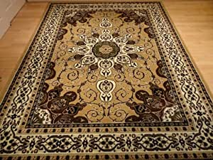 Beige persian rug oriental rugs living room for Living room rugs amazon