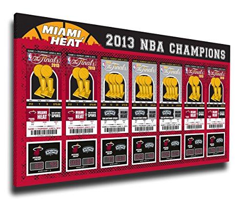 2013 NBA Finals Tickets to History Canvas Print - Miami Heat (Tickets To Miami compare prices)