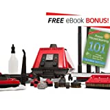 Sargent Steam® Cleaner Cleaning System | Multi-Purpose, High Pressure, Vapor Steamer Machine | Best for Commercial, Industrial, Home or Car Detail | Portable, Heavy Duty Cleaner | No Harsh Chemicals | Includes Attachments For Easy Cleaning (Color: Red)