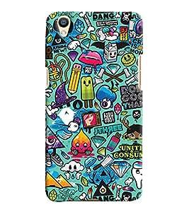 Printvisa Kiddish Colourfull Pattern Back Case Cover for Oppo F1 Plus::Oppo R9