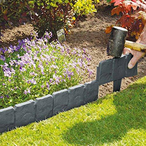 10pezzi grigio scuro Bell' effetto pietra per prato e giardino Border-Semplicemente martello in