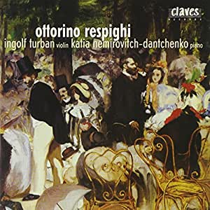 Respighi : Original Compositions for Violin and Piano