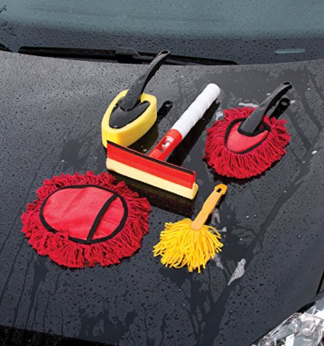 complete car cleaning kit 5 pcs set auto detailing tools to clean interior exterior of cars. Black Bedroom Furniture Sets. Home Design Ideas